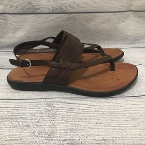 BOC Sharin Sling Coffee Tooled Sandals (0397)